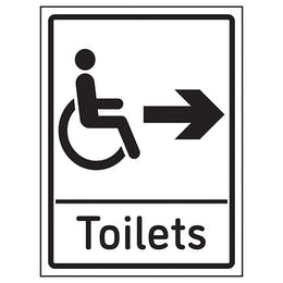 Disabled Toilets Arrow Right