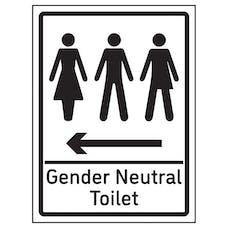 Gender Neutral Toilet Arrow Left