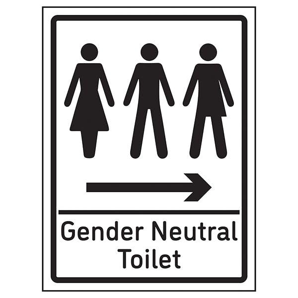 Gender Neutral Toilet Arrow Right