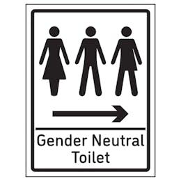 Gender Neutral Toilet Arrow Right