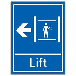 Lift Arrow Left Blue