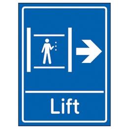 Lift Arrow Right Blue