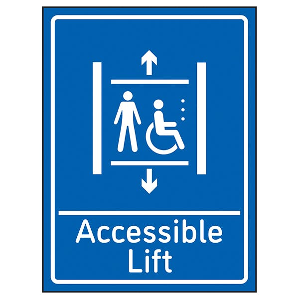 Accessible Lift Blue