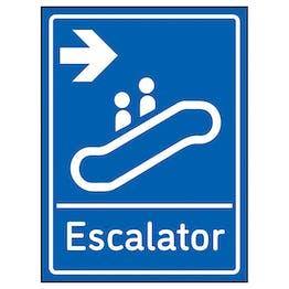 Escalator Arrow Right Blue