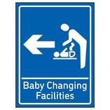 Baby Changing Facilities Arrow Left Blue
