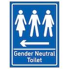 Gender Neutral Toilet Arrow Left Blue