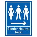 Gender Neutral Toilet Arrow Right Blue