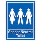 Gender Neutral Toilet Blue