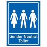Gender Neutral Toilet Blue