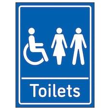Mixed Toilets Blue