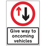 Give Way To Oncoming Vehicles
