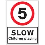 5 MPH Slow Children Playing