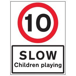 10 MPH Slow Children Playing