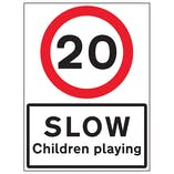 20 MPH Slow Children Playing