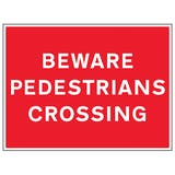 Beware Pedestrians Crossing
