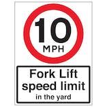 10 MPH Fork Lift Speed Limit