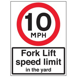 10 MPH Fork Lift Speed Limit