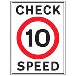 10 MPH Check Speed