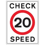 20 MPH Check Speed