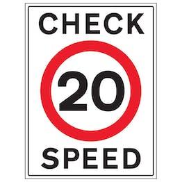 20 MPH Check Speed