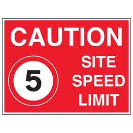 5 MPH Site Speed Limit