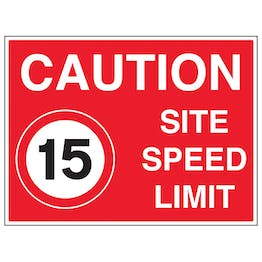 15 MPH Site Speed Limit