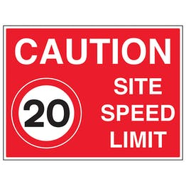 20 MPH Site Speed Limit