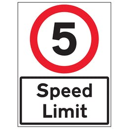 5 MPH Speed Limit