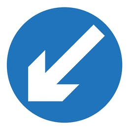 Keep Left Arrow