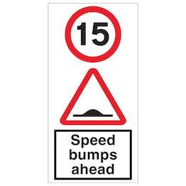15 MPH Speed Bumps Ahead