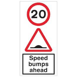 20 MPH Speed Bumps Ahead