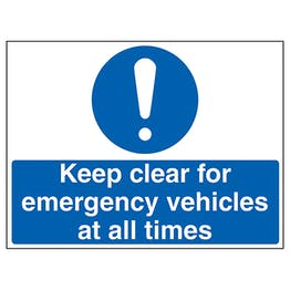 Caution Keep Clear For Emergency Vehicles At All Times