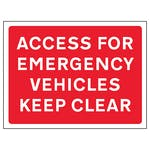 Access For Emergency Vehicles Keep Clear