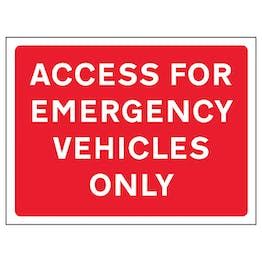 Access For Emergency Vehicles Only