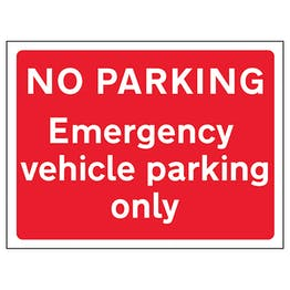No Parking Emergency Vehicle Parking Only