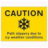 Winter Paths & Walkway Signs