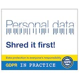 GDPR Sticker - Is That Personal Data? Shred It First