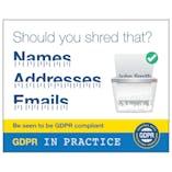 GDPR Sticker - Should You Shred That? Names, Addresses, Emails