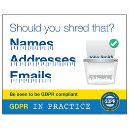 GDPR Sticker - Should You Shred That? Names, Addresses, Emails