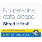 No Personal Data Please Shred It First!