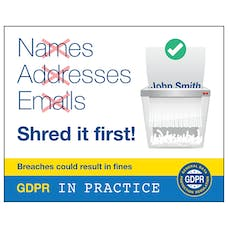 Names, Addresses Emails Shred It First!