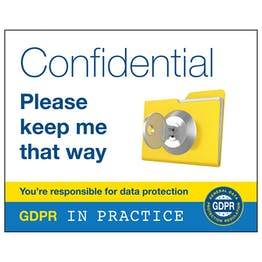 GDPR Sticker - Confidential Please Keep Me That Way