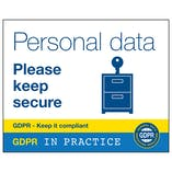 GDPR Sticker - Personal Data Please Keep Secure