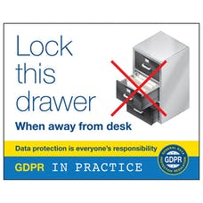 Lock This Drawer When Away From Desk