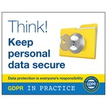 GDPR Sticker - Think Keep Personal Data Secure