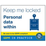 GDPR Sticker - Keep Me Locked Personal Data Within