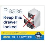 GDPR Sticker - Please Keep This Drawer Locked