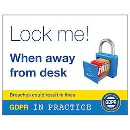 GDPR Sticker - Lock Me! When Away From Desk