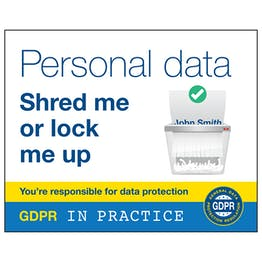 GDPR Sticker - Personal Data Shred Me Or Lock Me Up