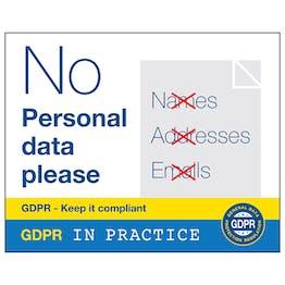 GDPR Sticker - No Personal Data Please